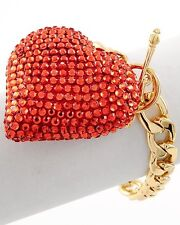 Sexy Stunning Basketball Wives Hearts Style Bracelet Bling Jewelry Wrist Candy
