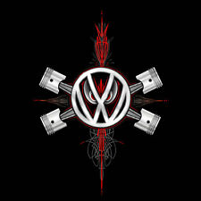 VW VOLKSWAGEN T SHIRT LOGO CROSSED PISTONS VW TEE SHIRT