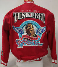 Red Tuskegee Airmen Redtail 332nd Black Knights Snap Up Racing Style Jacket