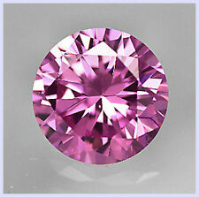 AAA Rated Round Bright Pink Cubic Zirconia (1.5mm-40mm)