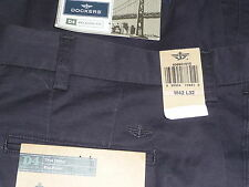 DOCKERS Mens Pants D4 RELAXED FIT NAVY BLUE Khakis 100% Cotton - New With Tags
