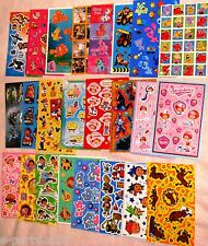 HUGE SELECTION Character STICKERS ~ Party Supplies FAVORS Rewards Scrapbooking