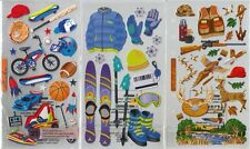 STICKO  Assorted STICKERS Choice Scrapbooking SPORTS FISHING HUNTING PLAY BALL