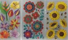 STICKO  Assorted STICKERS Choice Scrapbooking FLOWERS GARDEN FLORAL ROSES & MORE