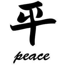 Peace * Japanese Symbol Uppercase Vinyl Living Wall Sticker - Many Sizes Colors