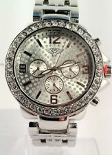 Prince London NY jewelled BLING Dial, Face Watch, Metal Double strap stone set