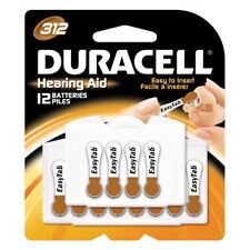 Duracell Hearing Aid Battery, Zinc Air, Size 312