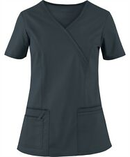 Scrubs Cherokee Workwear Core Stretch Top 4728 Pewter  Buy 3 Ship $4