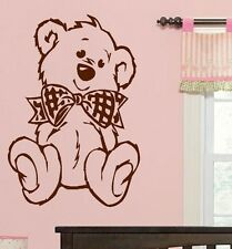 LARGE NURSERY CUTE TEDDY BEAR BABY WALL ART MURAL  STICKER TRANSFER POSTER DECAL