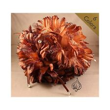 LARGE FLOWER HAIR CLIPS | FABRIC HAIR CLIP | 20CM / 8 INCHES WIDE | CLSX-LCE-STN