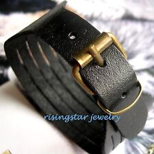Men Cool Motorcycle Rider Biker Surfer Characters Soft Leather Fashion Wristband