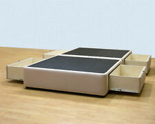 King Platform Bed with storage drawers - Uphostered Micro Fiber Storage Bed Sale