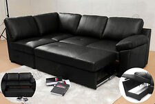 ALONZA SOFA BED FAUX LEATHER (Brown & Black Colours) New