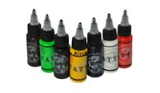 Large 30ml Tattoo Colour Ink Bottles: Black,Blue,Brown,Green,Red,White,Yellow