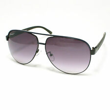 AVIATOR Sunglasses Retro Classic Hippie Frame BLACK / Color Stripes New