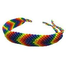Gay Pride Friendship Bracelet Rainbow and Bear Pride