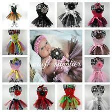 Infant Baby Waffle Crochet Halter Top Tutu Dress Photoshoot 12 Available Colors