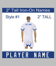 "2"" Tall Iron-On Player Name or Team Name for Sports Jersey T-Shirt Style #1"