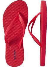 NWT Ladies FLIP FLOPS Old Navy Thong Sandals RED Shoes SIZE 7,8,9,10,11
