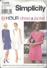 Simplicity 7049 Misses' / Miss Petite Two Hour Dress and Jacket  Sewing Pattern
