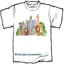 T-shirt - a DAY AT THE ZOO -- TIGER LION ZEBRA ELEPHANT ORANGUTAN - personalized