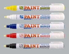 PERMANENT PAINT MARKER PEN CAR TYRE METAL RUBBER PLASTIC WATER PROOF BULLET TIP
