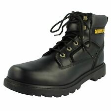 Mens Caterpilla Lace Up Ankle Boot, Leather, Black, Stick Shift
