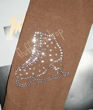 OVER THE BOOT  SKATING TIGHTS WITH CRYSTAL ELEMENTS ICE SKATE BOOT