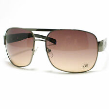 Square Aviator Sunglasses Navigator Pilot Style Designer GUN METAL Black New