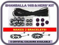2 Clay Pave Crystal Shamballa Bracelet Making Kit inc Instructions & DISCO Beads