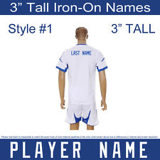 """3"""" Tall Iron-On Transfer Player or Team Name for Sports Jersey T-Shirt Style #1"""