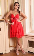 Party Evening Formal Cocktail Chiffon Ladies Women Dress Size 8 - 18