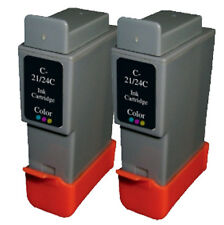 2 Colour Canon BCI21-24 Compatible Ink Cartridges