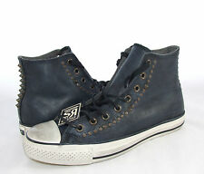 New Converse Chuck Taylor Studded John Varvatos All Star Black Leather Shoes