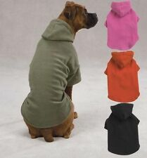 Casual Canine Basic Fleece Puppy Dog Hoodie Pet Sweatshirt All Sizes + Colors