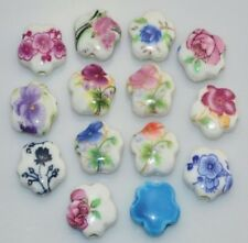 10PCS 15mm blue pink purple flower beautiful star ceramic beads Making jewelry