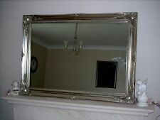 LARGE ORNATE ANTIQUE STYLE SHABBY CHIC WALL OVERMANTLE MIRRORS