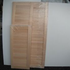 Ramin Open Louvre Doors (Hardwood)Various Sizes,Varying amounts of each type.
