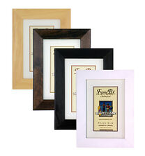 White Black Mocha Beech WOODEN Picture Photo Frames in 29 standard sizes H7 WOOD