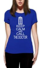 KEEP CALM AND CALL THE DOCTOR Women T-Shirt Who Cult TV Series Funny humor new