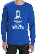 KEEP CALM AND CALL THE DOCTOR Long Sleeve T-Shirt Who Cult TV Series Funny humor