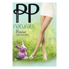 Pretty Polly Naturals SUMMER hosiery: OPEN Toe, OILED, SANDAL, SLIMMER& Hold UPs