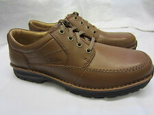 Clarks 'Sidmouth Key' Mens Brown Leather Lace Up Shoes H Width Fitting