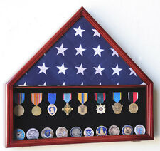 Flag & Medals Pins Patches Insignia Challenge Coin Display Case Cabinet Rack