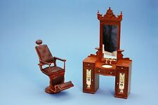 Dolls House Furniture  Barbers Chair / Wash Baisn / Shoe Shine Chair  by Jiayi