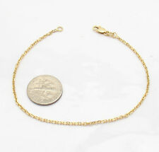 1.50mm Solid Cable Link Chain Bracelet Real 14K Yellow Gold ALL SIZES FREE SHIP