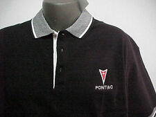 GM LICENSED PONTIAC ARROWHEAD BLACK/WHITE POLO SHIRT