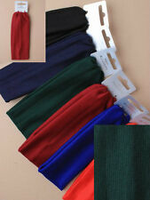 GIRLS PLAIN 5cm WIDE SCHOOL HEADBAND BANDEAUX Hairbands - 6 COLOURS AVAILABLE