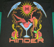 Hinder Woman Martini Glass Logo Shirt NEW S L XL 2XL 3XL