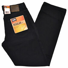 Lee Jeans Double Black Mens Regular Fit Straight Leg Men Classic Fit